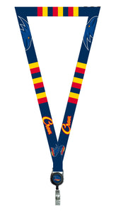 Adelaide Crows Official AFL Lanyard, Detachable Keyring Retractable ID