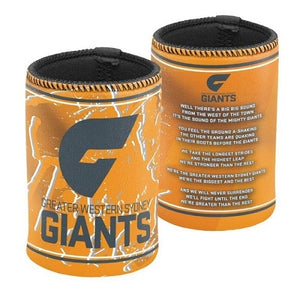 Greater Western Sydney Official AFL Team Song Can Cooler Stubby Holder