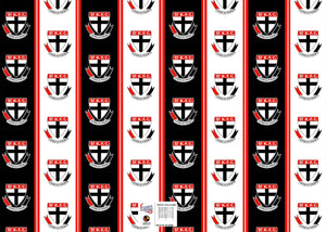 St Kilda Saints Official AFL Wrapping Paper Giftwrap