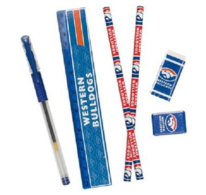 Western Bulldogs Official AFL 6 Piece Stationery Set