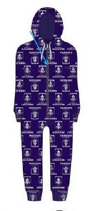 Fremantle Dockers Childrens Microfleece Hooded Pyjama Jumpsuit AFL Official