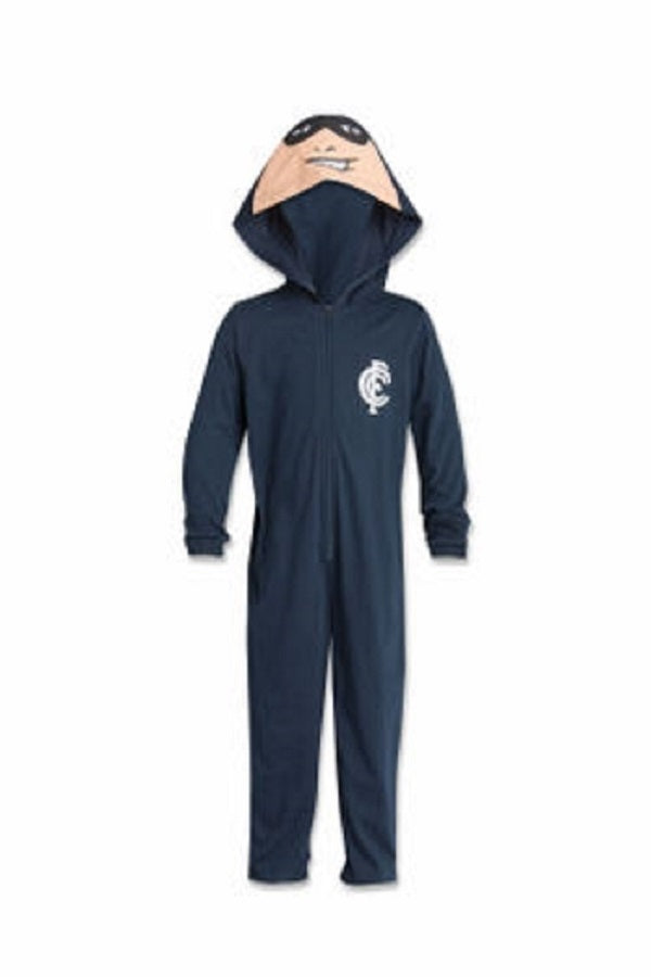 Carlton Blues Childrens Bodysuit with Hood AFL Official