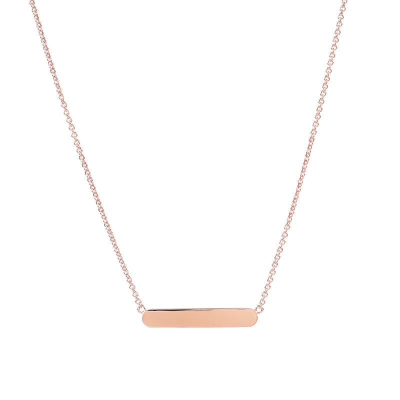 Rose Gold Vermeil Bar Necklace