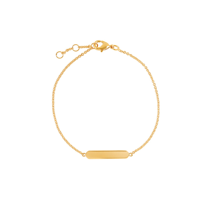 Gold Vermeil Bar Bracelet