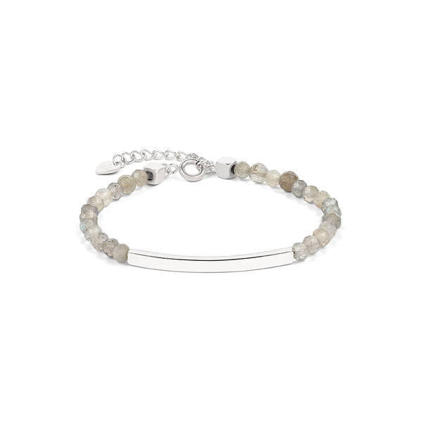 4mm Labradorite Bracelet in Silver