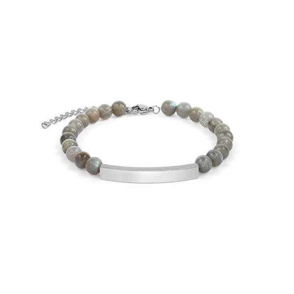 6mm Labradorite Bracelet in Silver