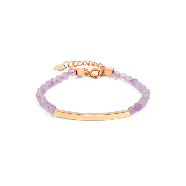 Amethyst Bracelet in Rose Gold