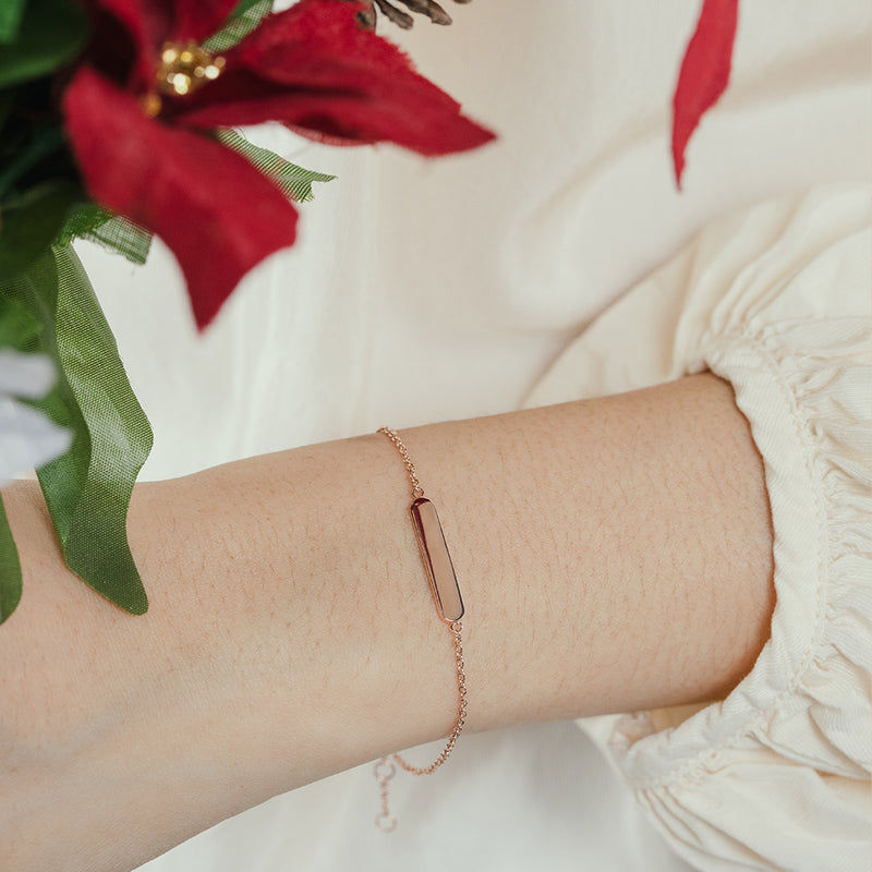 Rose Gold Vermeil Bar Bracelet