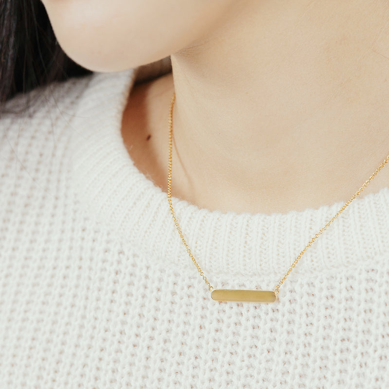 Gold Vermeil Bar Necklace