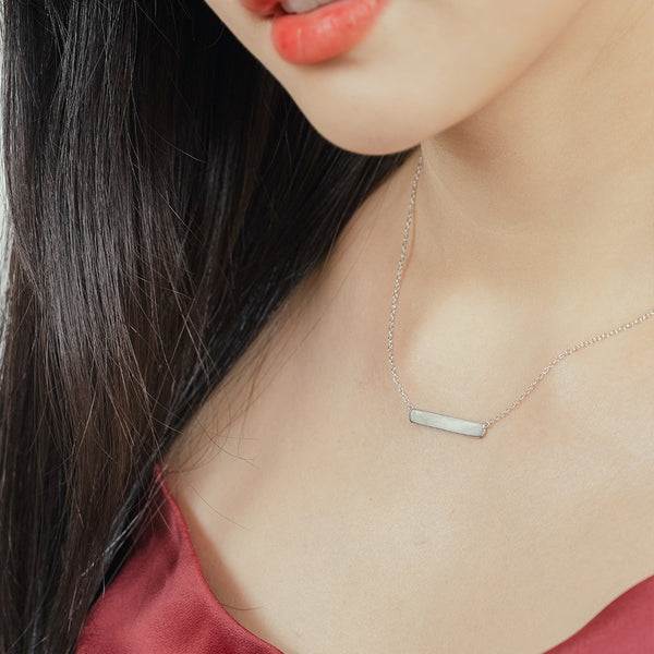 925 Silver Bar Necklace