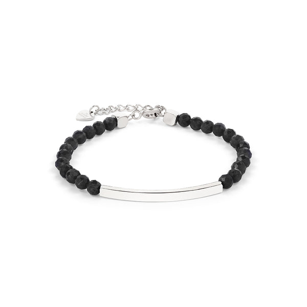 Black Tourmaline Bracelet in Silver