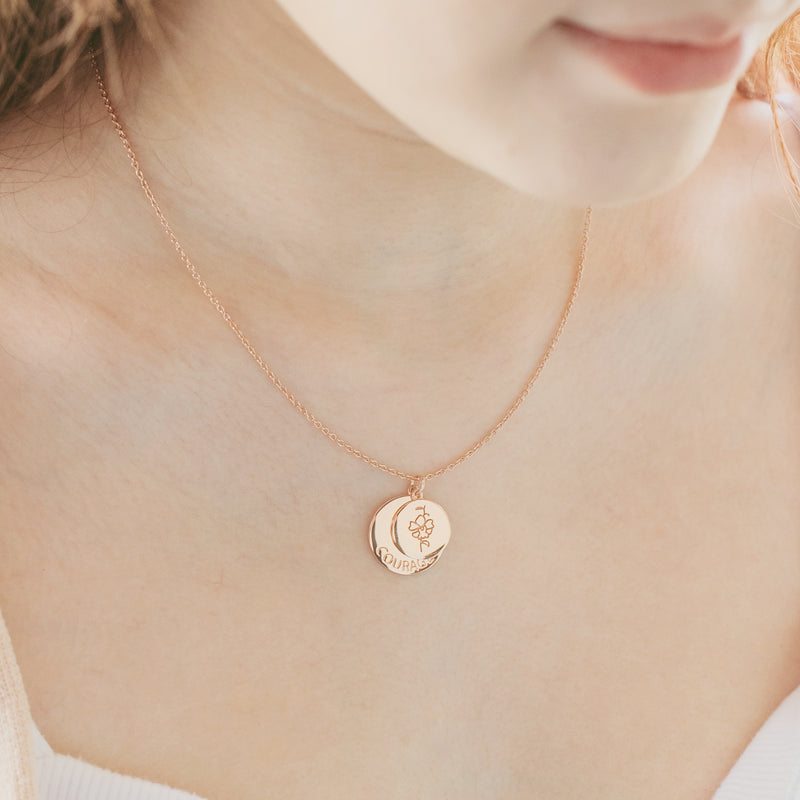 Rose Gold Courage Necklace