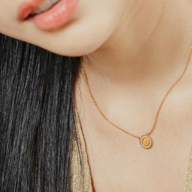 Gold Vermeil Disc Necklace