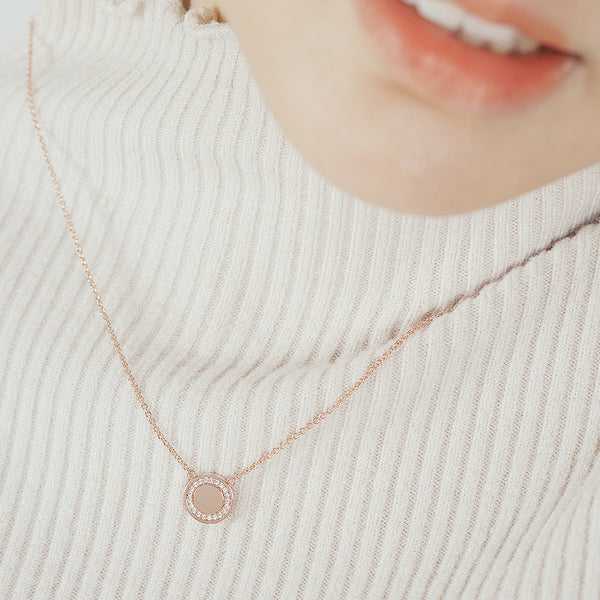 Rose Gold Vermeil Disc Necklace