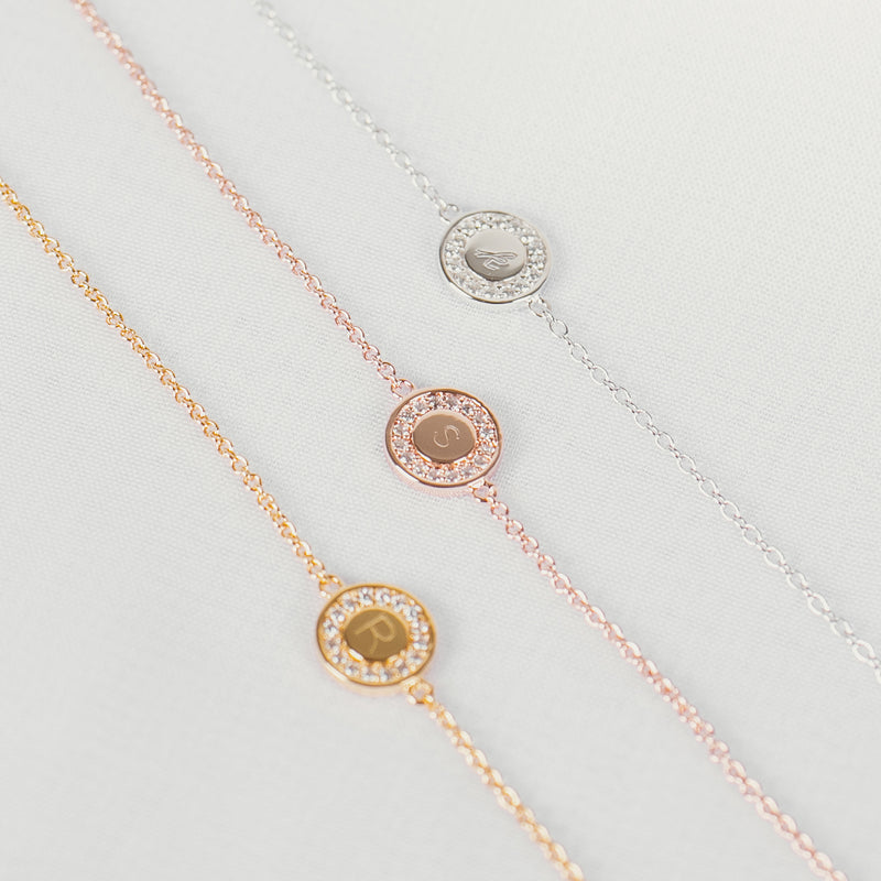 Rose Gold Vermeil Disc Bracelet