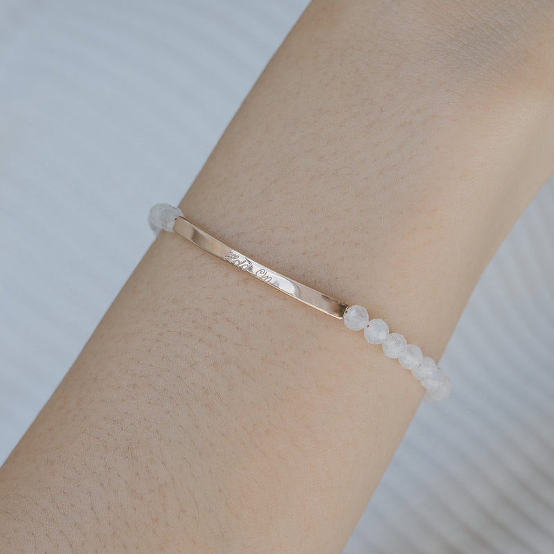 Moonstone Bracelet in Rose Gold