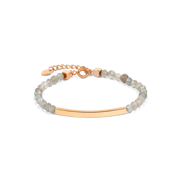 Labradorite Bracelet in Rose Gold