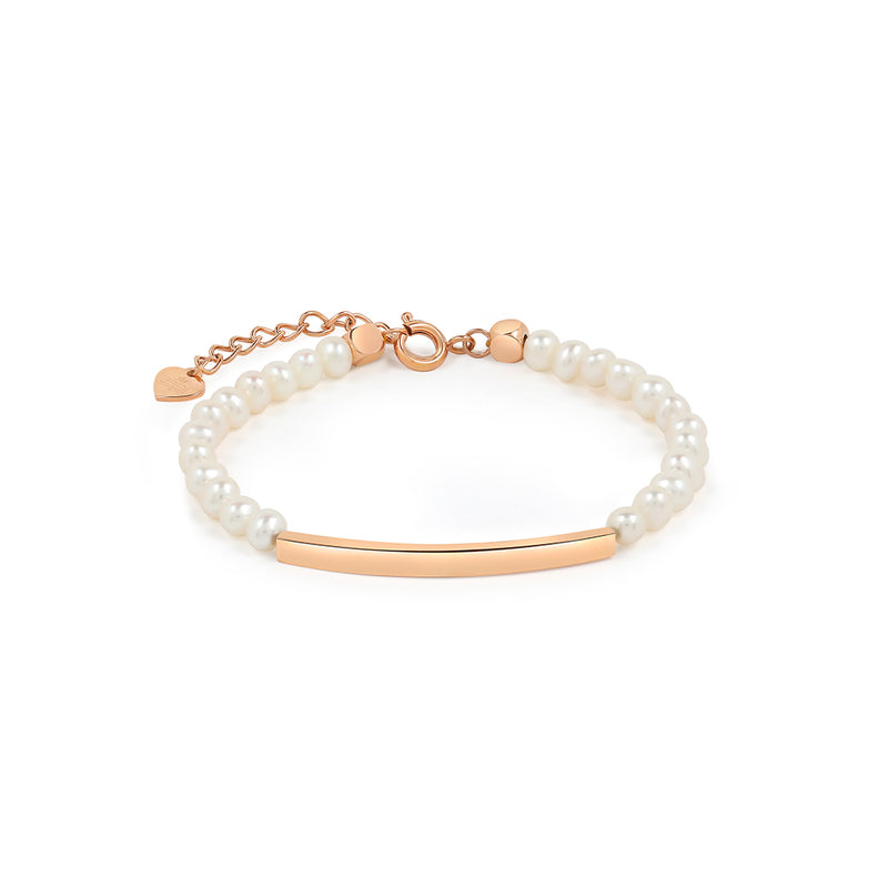 Pearl Bracelet in Rose Gold