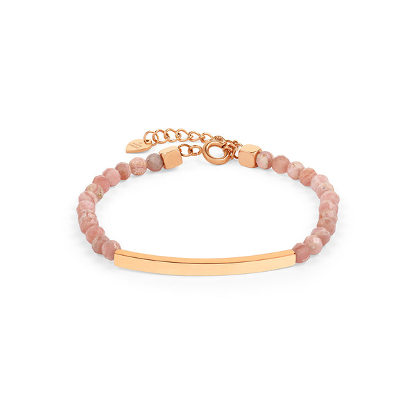 Rhodochrosite Bracelet in Rose Gold