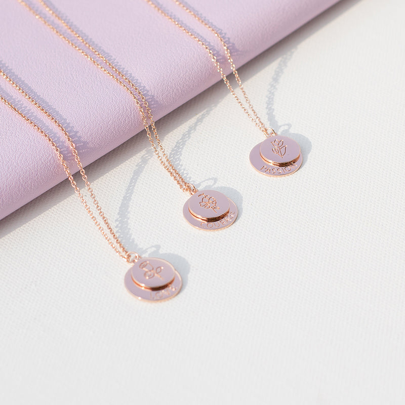 Rose Gold Hope Necklace