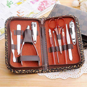 10 PCS Multi-function Stainless Steel Manicure Set Personal Care Tool
