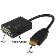 Load image into Gallery viewer, AMZER®  Full HD 1080P HDMI to VGA + Audio Output Cable for Computer,