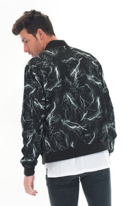BOLT BOMBER JACKET- BLACK