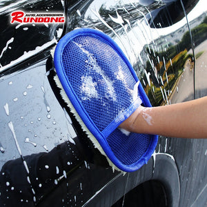 Car Wash Cleaning Sponge Brush Glass Cleaner Blue