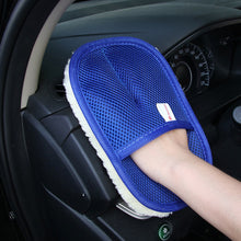 Load image into Gallery viewer, Car Wash Cleaning Sponge Brush Glass Cleaner Blue