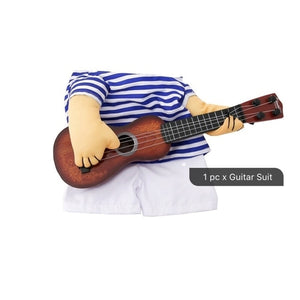 Funny Pet Guitar Player Cosplay Dog Cat Costume