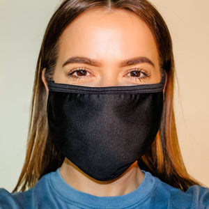 Ear Loop Face Mask MADE IN USA - BLACK