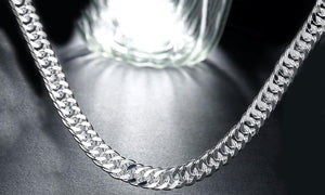 Durable Classic Men's Curb Chain Necklace - Three Options