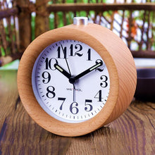 Load image into Gallery viewer, Wooden LED Alarm Clock