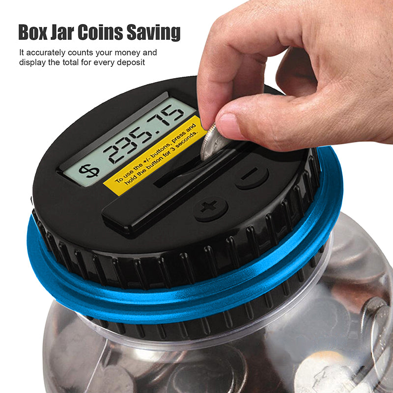 Foldable Money Saving Box Coin Counting LCD Display