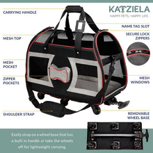 Load image into Gallery viewer, Katziela Wheeled Pet Carrier Luxury Rider
