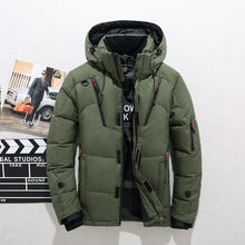 Load image into Gallery viewer, Men Down High Quality Thick Warm Winter Jacket Hooded Thicken Duck Down Parka Coat Casual Slim Overcoat With Many Pockets Mens
