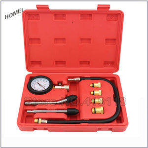 Professional AUTO TOOLS Petrol Gasoline Engine Cylinder Compression Tester Kit Cylinder Tester With M10 M12 M14 M16 M18