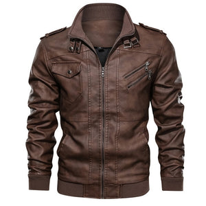 Men's Leather Jacket Casual Motorcycle Removable Hood Pu Leather Jacket 2020 New Male Oblique Zipper European size jaqueta couro