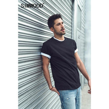 Load image into Gallery viewer, SIMWOOD 2020 Summer new 100% cotton t-shirt men o-neck solid color t shirt basic tees plus size short sleeve tops 190402