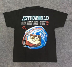 Travis Scott x R eese's P uffs Enjoy Today Tee Astroworld T shirt Men Women 1:1 High Quality Summer Style Travis Scott T-shirt