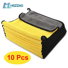 Load image into Gallery viewer, 3/5/10 pcs Extra Soft Car Wash Microfiber Towel Car Cleaning Drying Cloth Car Care Cloth Detailing Car WashTowel Never Scrat