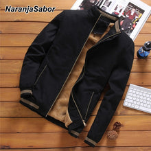 Load image into Gallery viewer, NaranjaSabor Jackets Men's Casual Cool Jacket Male Fashion Baseball Hip Hop Streetwear Coats Slim Fit Coat Brand Clothing N553