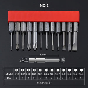 "12Pcs Set Security Tamper Proof Magnetic Screwdriver Drill Bit Screw Driver Bits Hex Torx Flat Head 1/4"" Hand Tools"