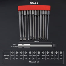 "Load image into Gallery viewer, 12Pcs Set Security Tamper Proof Magnetic Screwdriver Drill Bit Screw Driver Bits Hex Torx Flat Head 1/4"" Hand Tools"