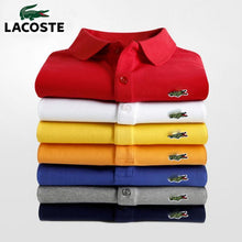 Load image into Gallery viewer, Men Summer Polo Shirt Brand Fashion Cotton Short Sleeve Polo Crocodile Shirts Male Solid Jersey Breathable Tops Tees 2635