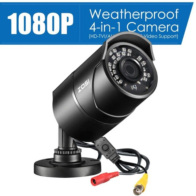 ZOSI 1080P CVBS AHD TVI CVI  Video Surveillance Camera HD 2.0MP Weatherproof 100ft Day Night Home CCTV Security Camera