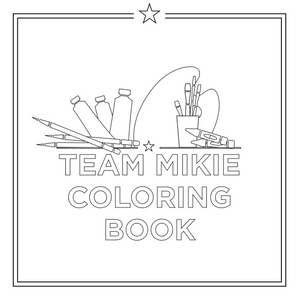 Team Mikie Coloring Book
