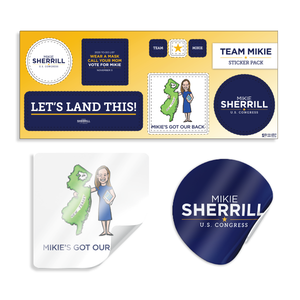 Mikie Sherrill Sticker Sheet