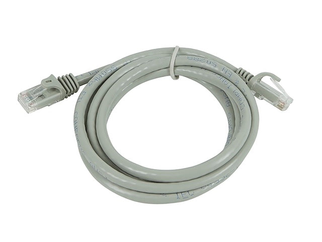 Monoprice - 5FT FLEXboot Series 24AWG Cat5e 350MHz UTP Bare Copper Ethernet Network Cable - Gray