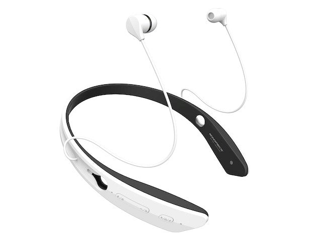 Monoprice - Bluetooth® In-Ear Headphones with aptX® NFC and Built-in Microphone- White
